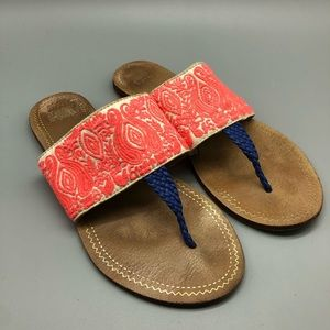 Anthropologie Jasper & Jeera Embroidered sandals